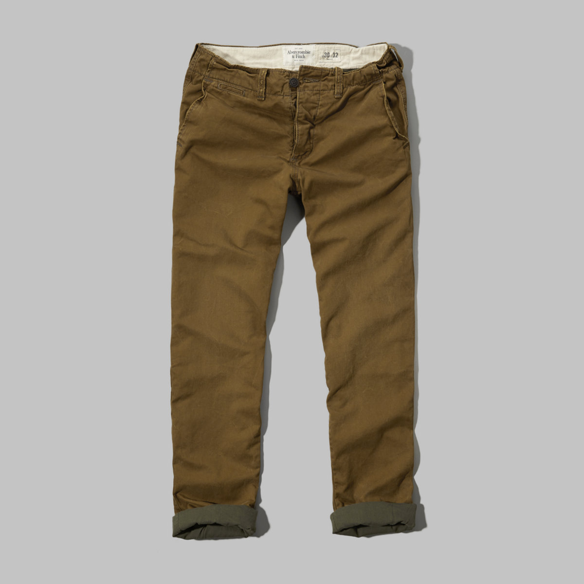A&F Flannel-Lined Chinos