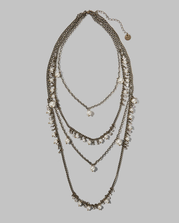 Womens Layered Shine Necklace