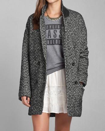 ANF Madeline Herringbone Coat