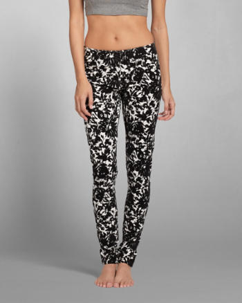 ANF A&F Flocked Leggings