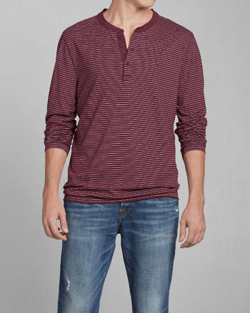 ANF Jay Range Striped Henley
