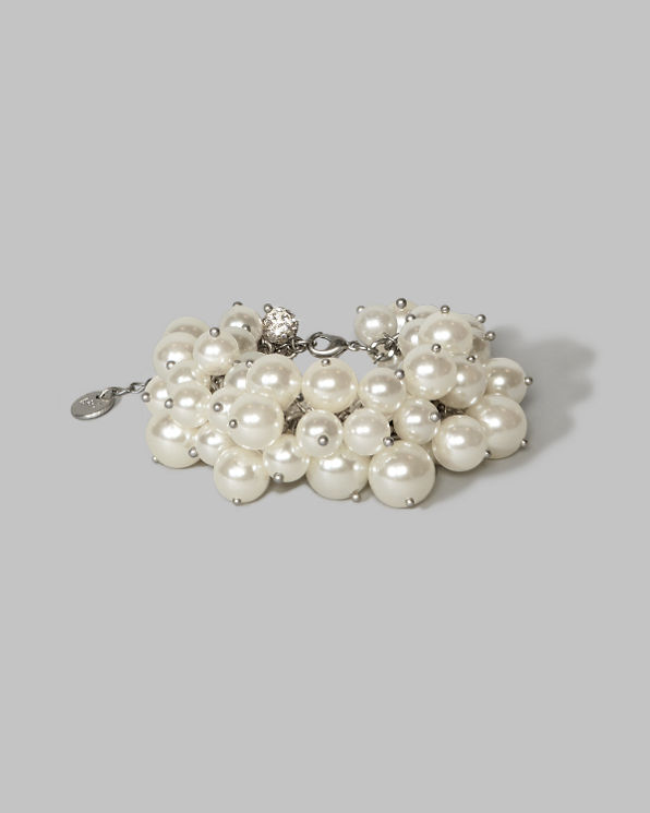 Womens Pearl Statement Bracelet