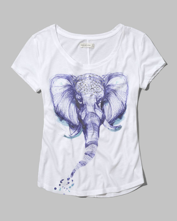 Womens Elephant Graphic Tee
