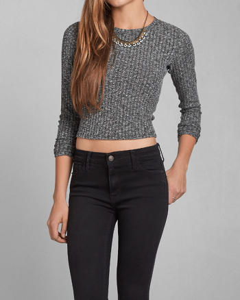ANF Quinn Ribbed Crop Top