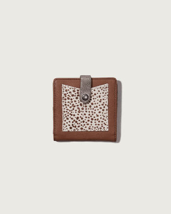 Womens A&F Calf Hair Small Wallet