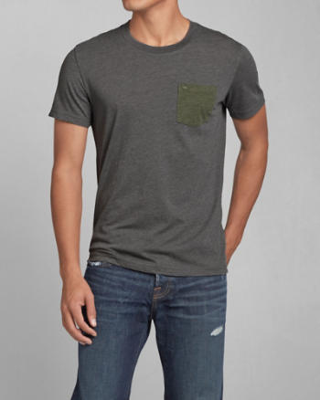 Mens Beckhorn Trail Contrast Pocket Tee