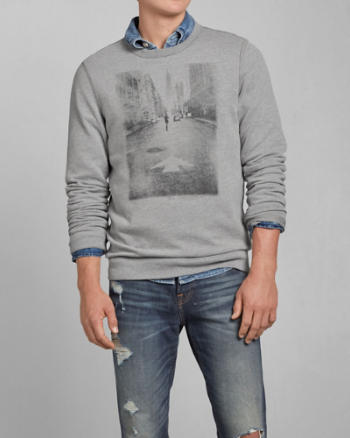 Mens City Photoreal Graphic Sweatshirt