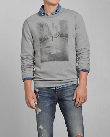 ANF City Photoreal Graphic Sweatshirt