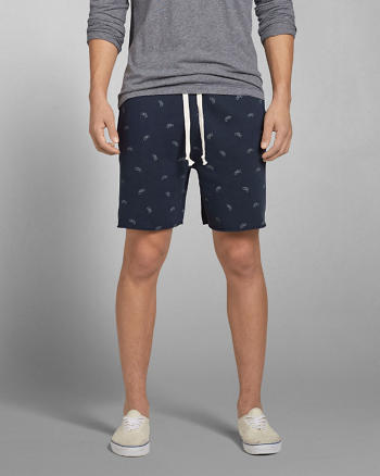 ANF A&F Fleece Preppy Fit Shorts