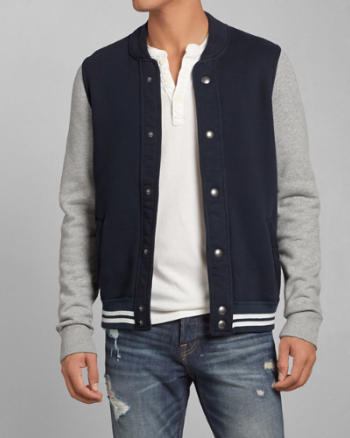Mens Bear Run Baseball Jacket