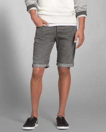 Mens A&F Classic Fit Denim Shorts