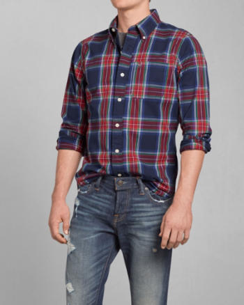 Mens Green Mountain Plaid Shirt