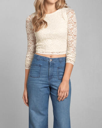Womens Sonia Lace Crop Top