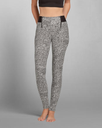 Womens Deidra Jacquard Leggings