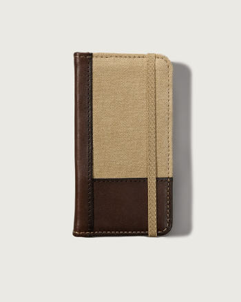 Mens Leather iPhone Wallet Case