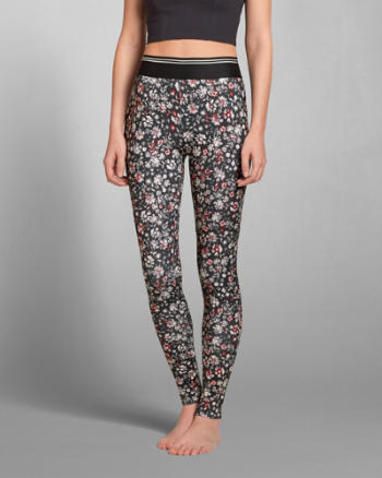 Womens Tipped Pattern Leggings