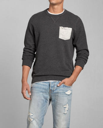 ANF Pocket Crew Sweatshirt