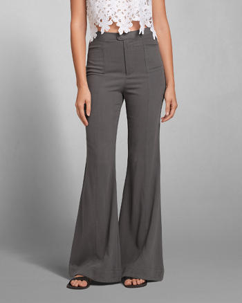 ANF Structured Flare Pants