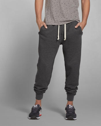 ANF A&F Tipped Waistband Jogger Sweatpants