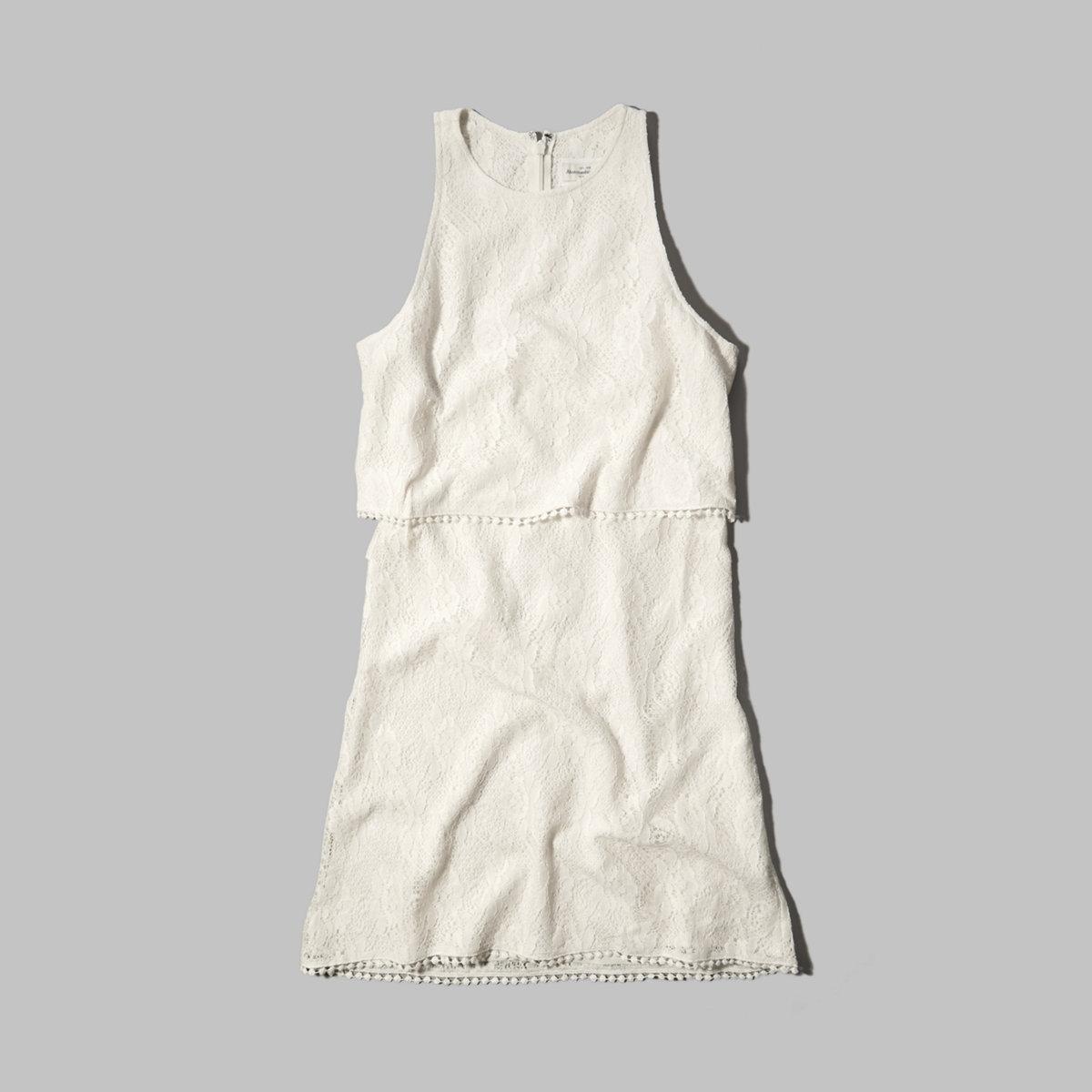 Lace Tiered Shift Dress