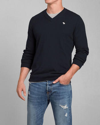 ANF Lake Road V-Neck Sweater
