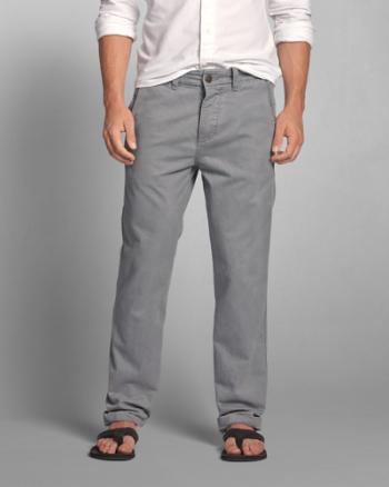 Mens A&F Classic Straight Chinos