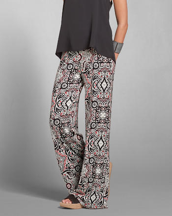 ANF Pattern Wide Leg Flare Pants