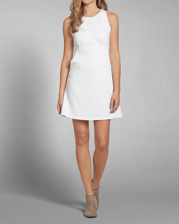 ANF Quilted Knit A-Line Dress