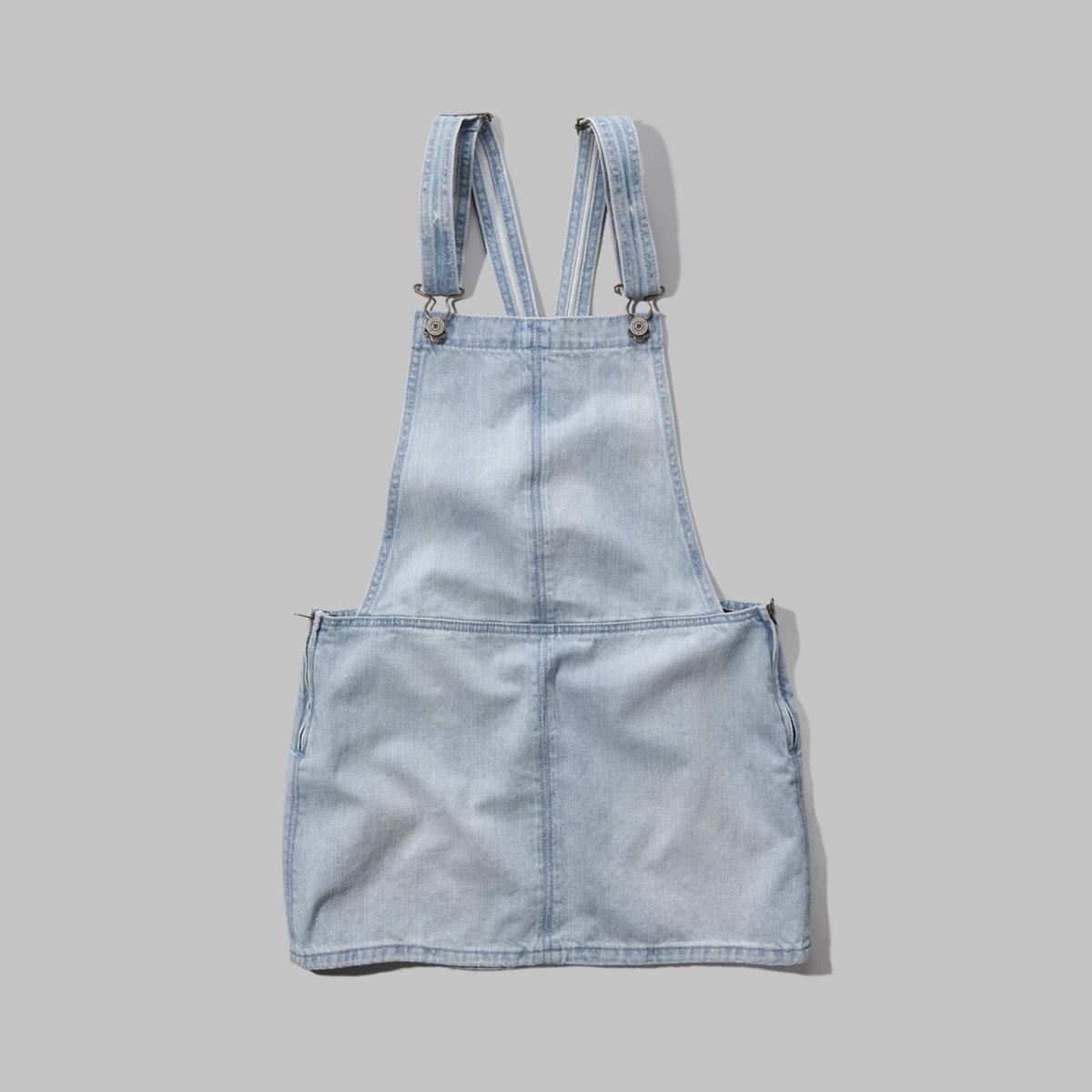 Denim Overall Jumper Dress