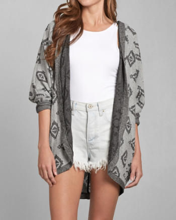 Womens Abigal Hooded Cocoon Cardigan