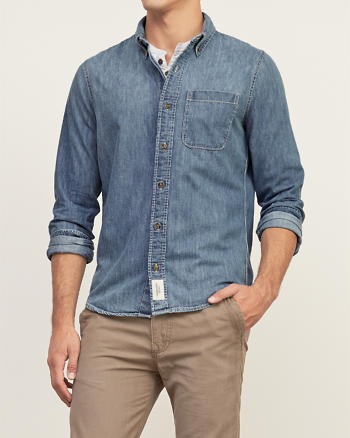 ANF Muscle Fit Denim Shirt