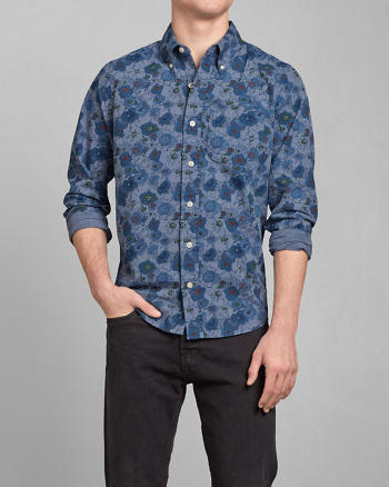 ANF Wolf Pond Printed Shirt