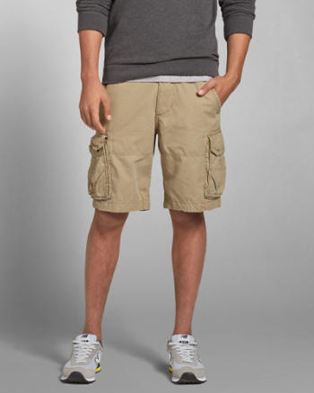 ANF A&F Lightweight Zip Fly Cargo Shorts