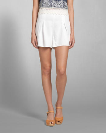 Womens Pleated Culotte Shorts