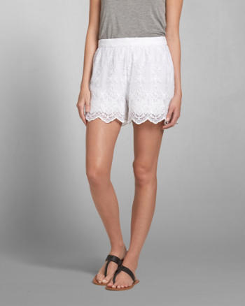 Womens Lace Culotte Shorts