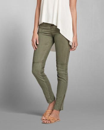 Womens Olive Military Pants