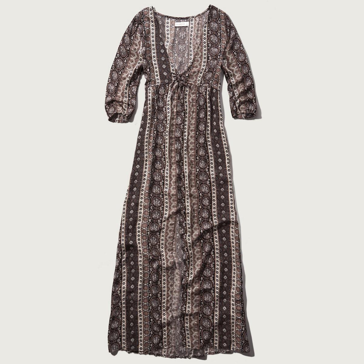 Printed Flutter Maxi Dress