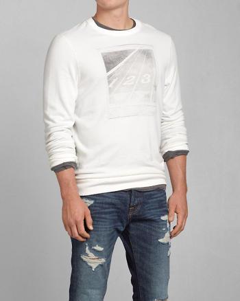 ANF Track Polaroid Photoreal Graphic Sweatshirt