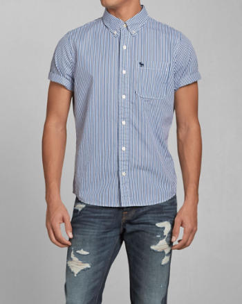 Mens Bengal Stripe Poplin Shirt