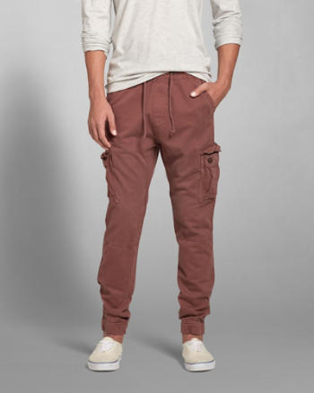Mens A&F Cargo Jogger Chinos