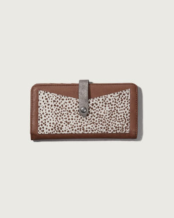 Womens A&F Calf Hair Large Wallet
