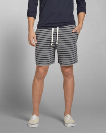 Mens A&F Fleece Preppy Fit Shorts
