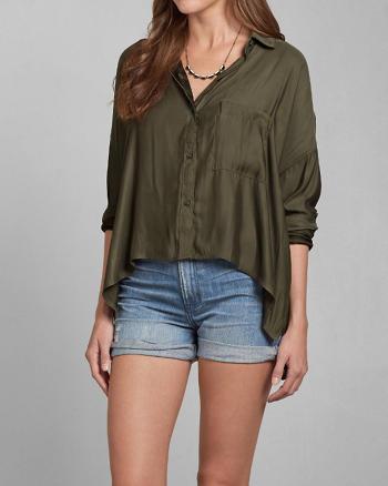 ANF Drapey Menswear Shirt