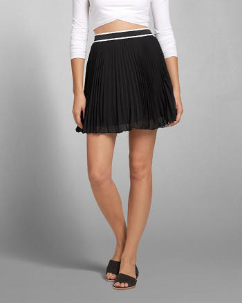 ANF Pleated Chiffon Skater Skirt