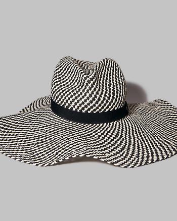 ANF Striped Wide Brim Hat