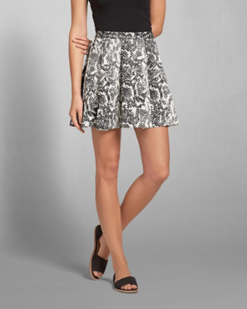 Womens Snake Neoprene Skater Skirt