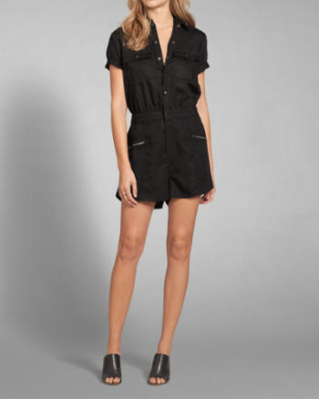 Womens Cargo Jumpsuit