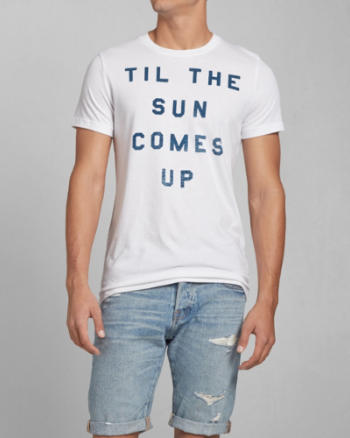 Mens Till the Sun Comes Up Graphic Tee