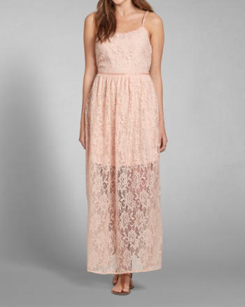Womens Lace Maxi Dress