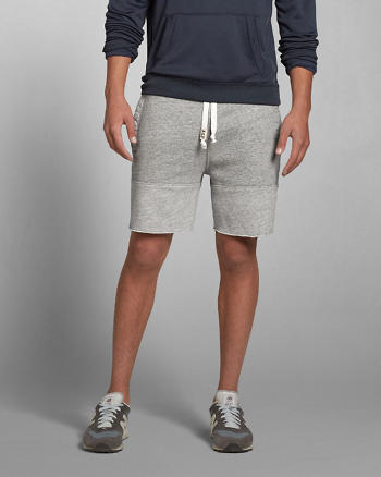 ANF A&F Color Block Fleece Shorts